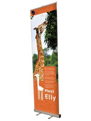 Roll up banner Giant Mosquito 3 m